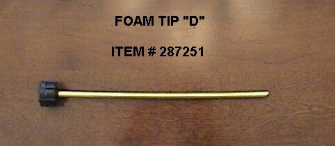 FOAMER 'C' NOZZLE OPTIONS