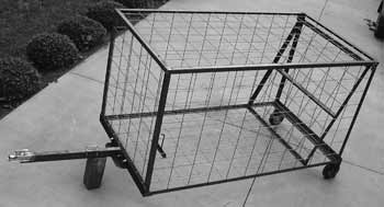 4Ft x 4Ft x 7.5Ft HOG TRAP w/BALL HITCH